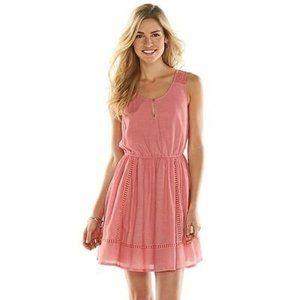 Lauren Conrad Light Summer Dress Apricot L NWT